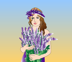 Girl with a flowers