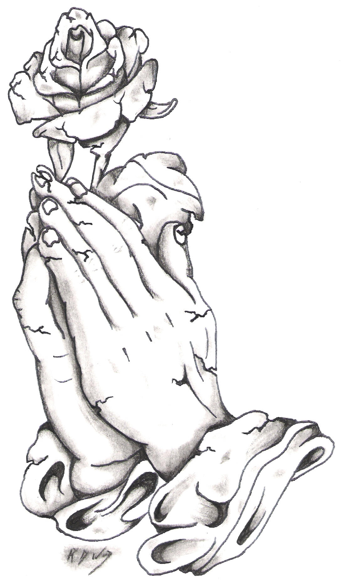 stone praying hands and rose by bassplayer39 on deviantart. Black Bedroom Furniture Sets. Home Design Ideas