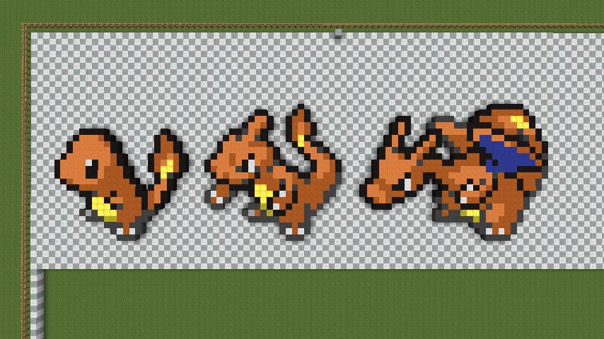 Minecraft pixel art charmander evln pokemon by - Pokemon logo minecraft ...