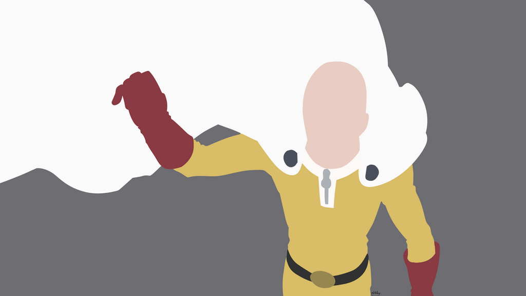 Minimalist art one punch man saitama by nikkheeeeey on for Minimal artiste
