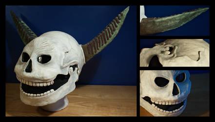 FFXII Summon - Zalera Skull Helmet by da-rk