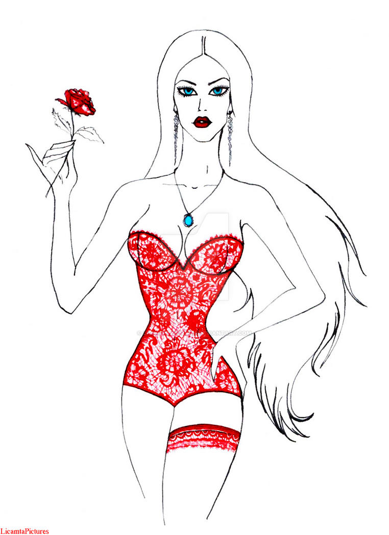 Rose.Fashion Sketch by LicamtaPictures