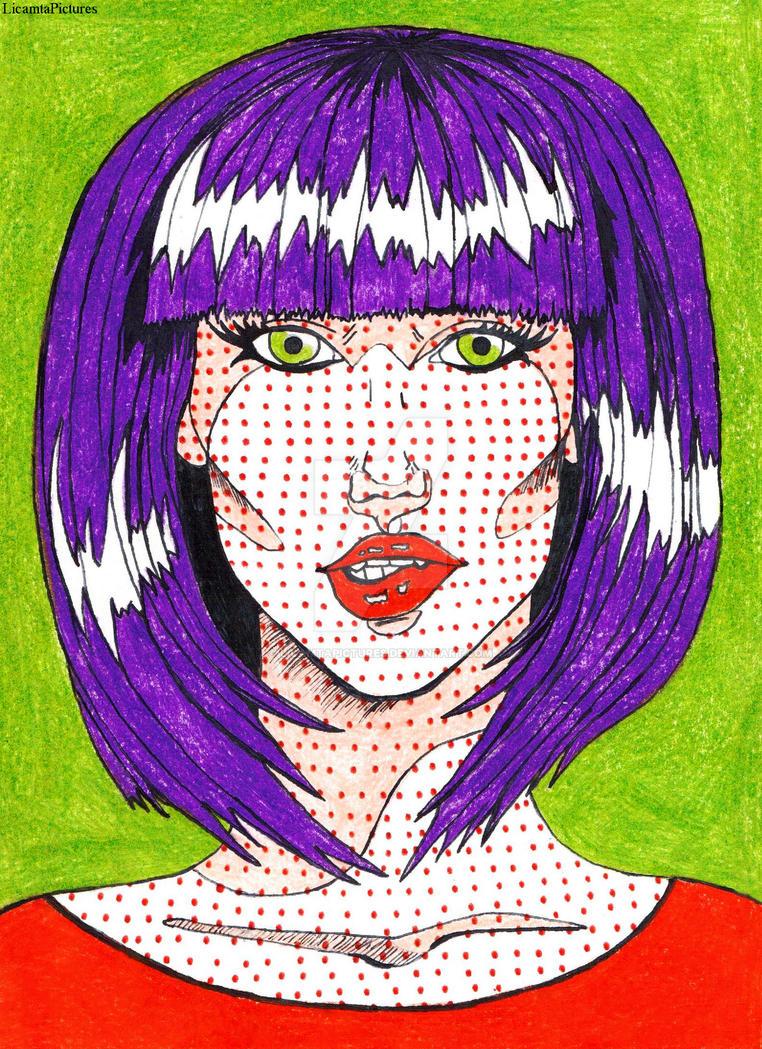 J 12-Pop art portrait by LicamtaPictures