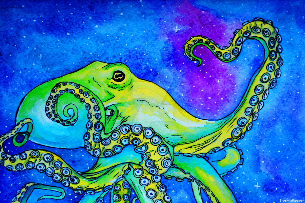 Fb14-Cosmic octopus by LicamtaPictures