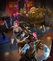 Digi Art League of Legends submission by aquarake