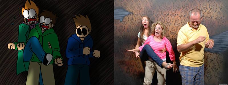 Edd crew haunted house reaction thingy