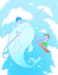 narwhal skiing