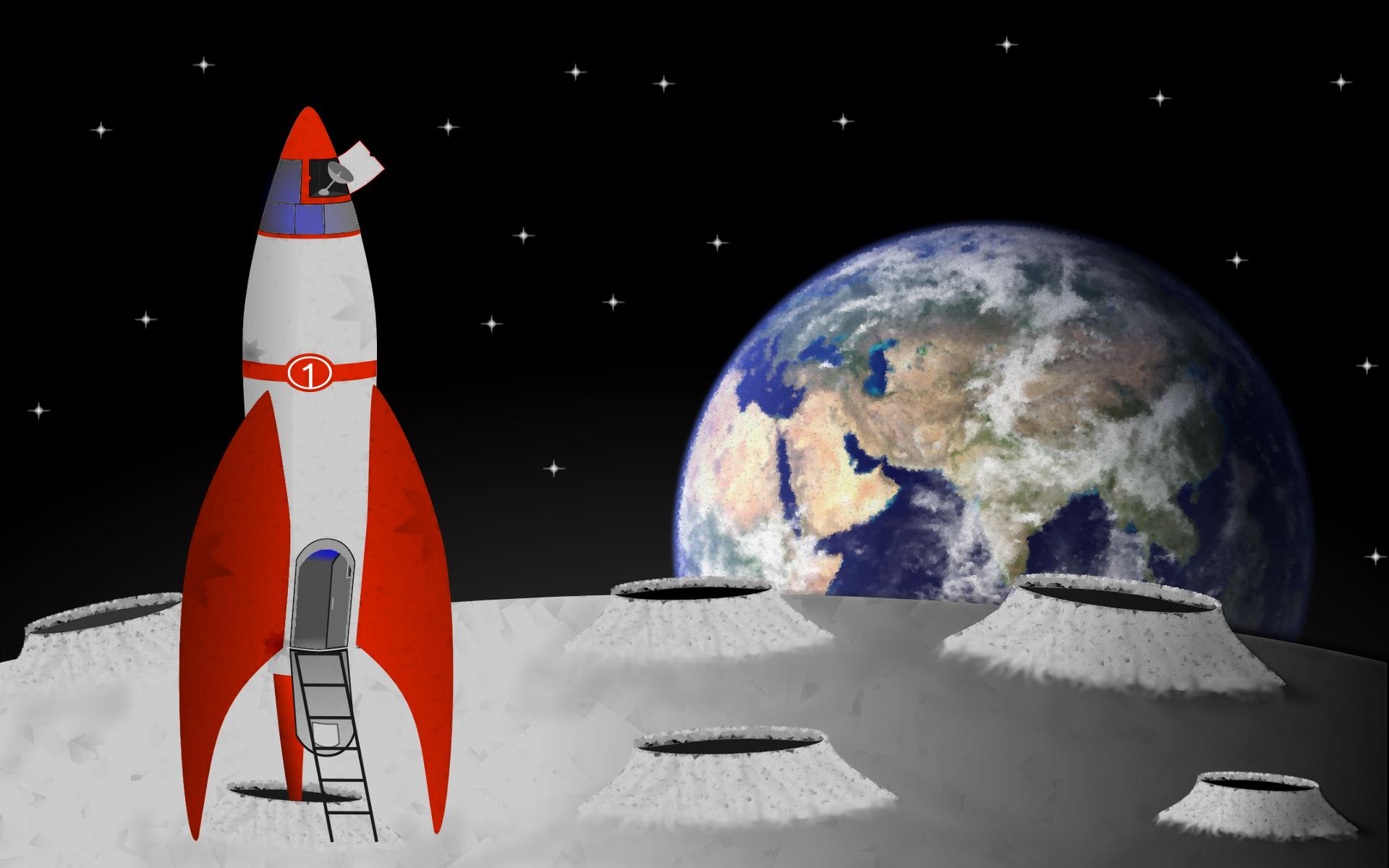 rocket landing on moon - photo #12