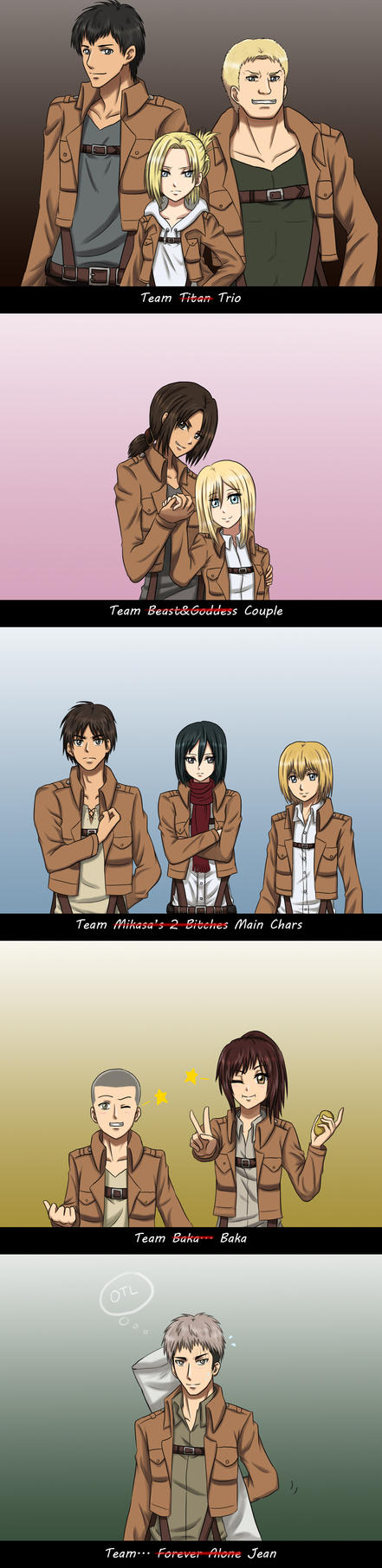 SnK - The Teams and Jean by Athyra