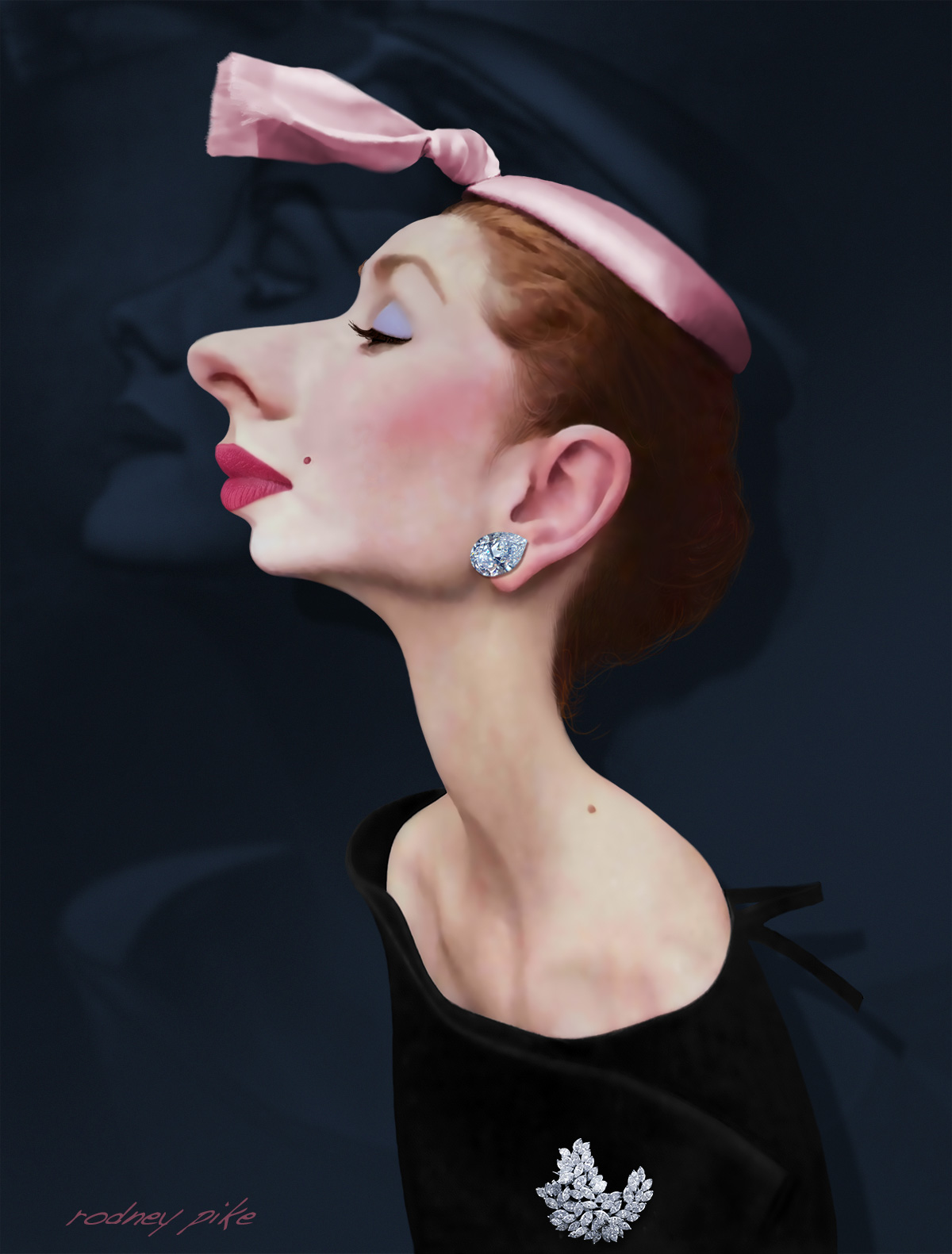 Ginger - A Female Caricature Study by RodneyPike