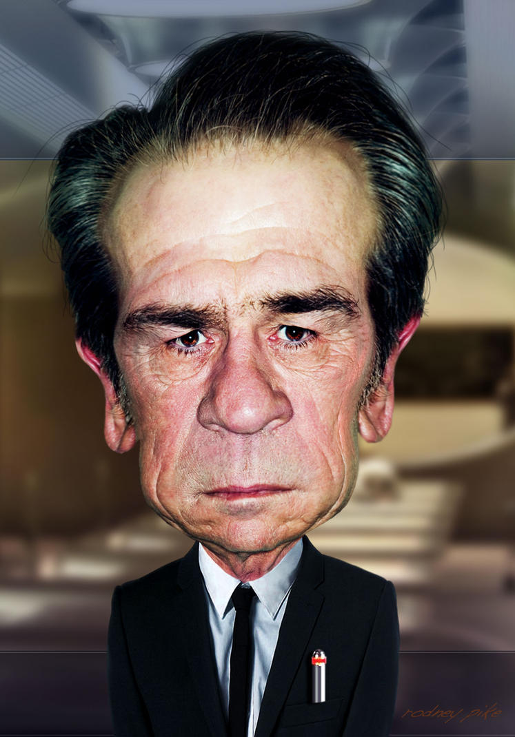 Tommy Lee Jones - A Caricature Study by RodneyPike