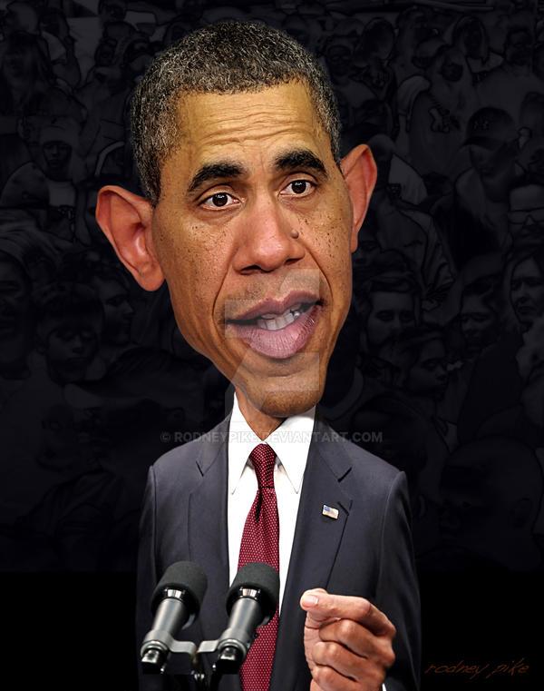 Barack Obama Caricature Study