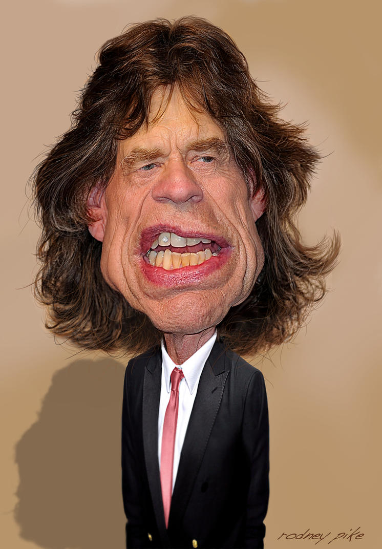 Mick Jagger of The Rolling Stones - 2013 by RodneyPike