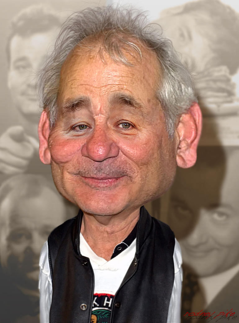 Old Bill Murray caricature Study by RodneyPike