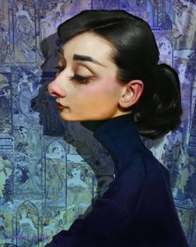Audrey Hepburn Caricature 2017