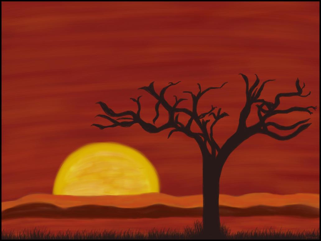 Sunet Oil Painting