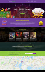 Gaming Zone Home Page Design