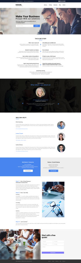 Consulting Service Home Page Design