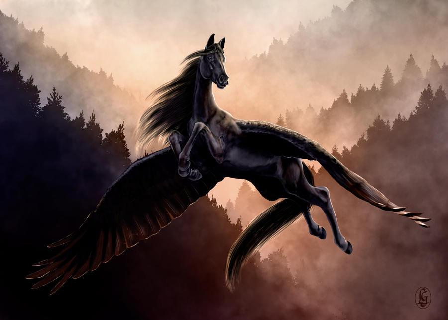 Black Pegasus by Skye-FyreBlack Pegasus