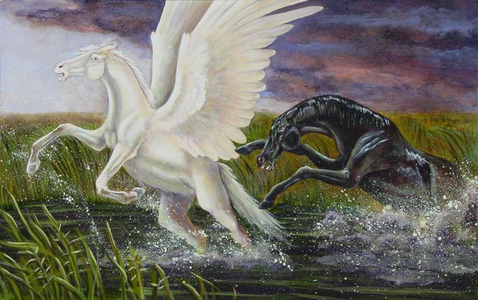 El Kelpie Pegasus_and_Kelpie_by_Skye_Fyre