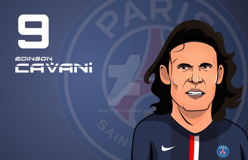 Edinson Cavani PSG by ipin07