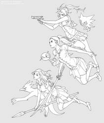 Girls, Weapons, and Pokemon by osy057