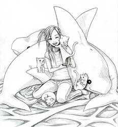 Cats and Dolphins by osy057