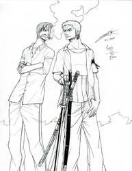 Sanji and Zoro by osy057