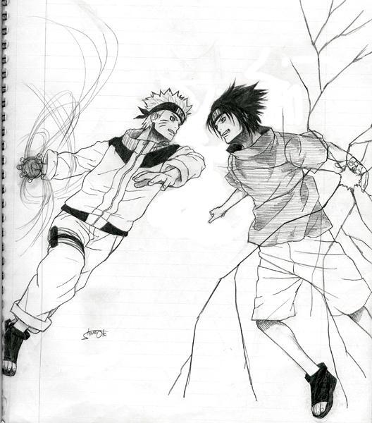 naruto vs sasuke drawings. Naruto vs Sasuke by