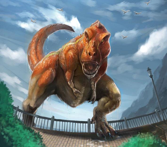 tyranosaurus by henryz