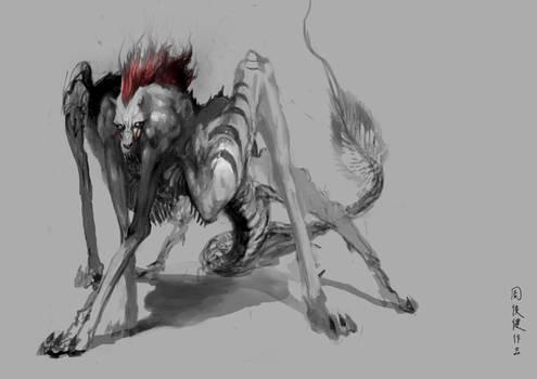 baboon, wolf, dragon
