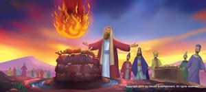 Elijah on Mt.Carmel by henryz