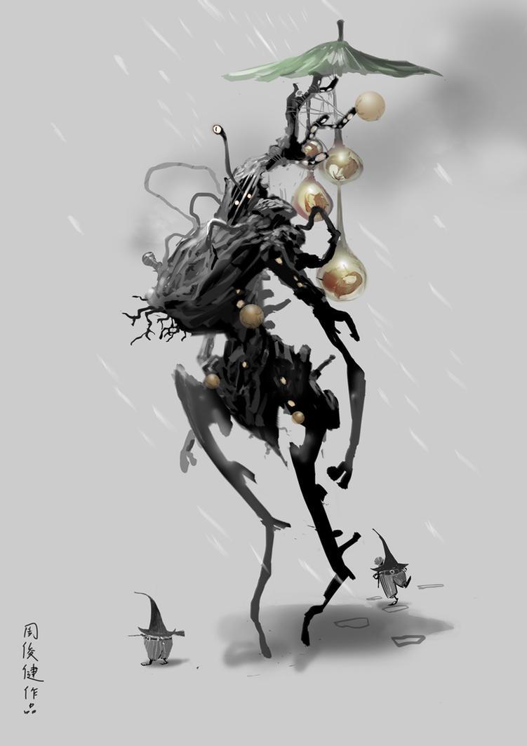 winter creature design by henryz