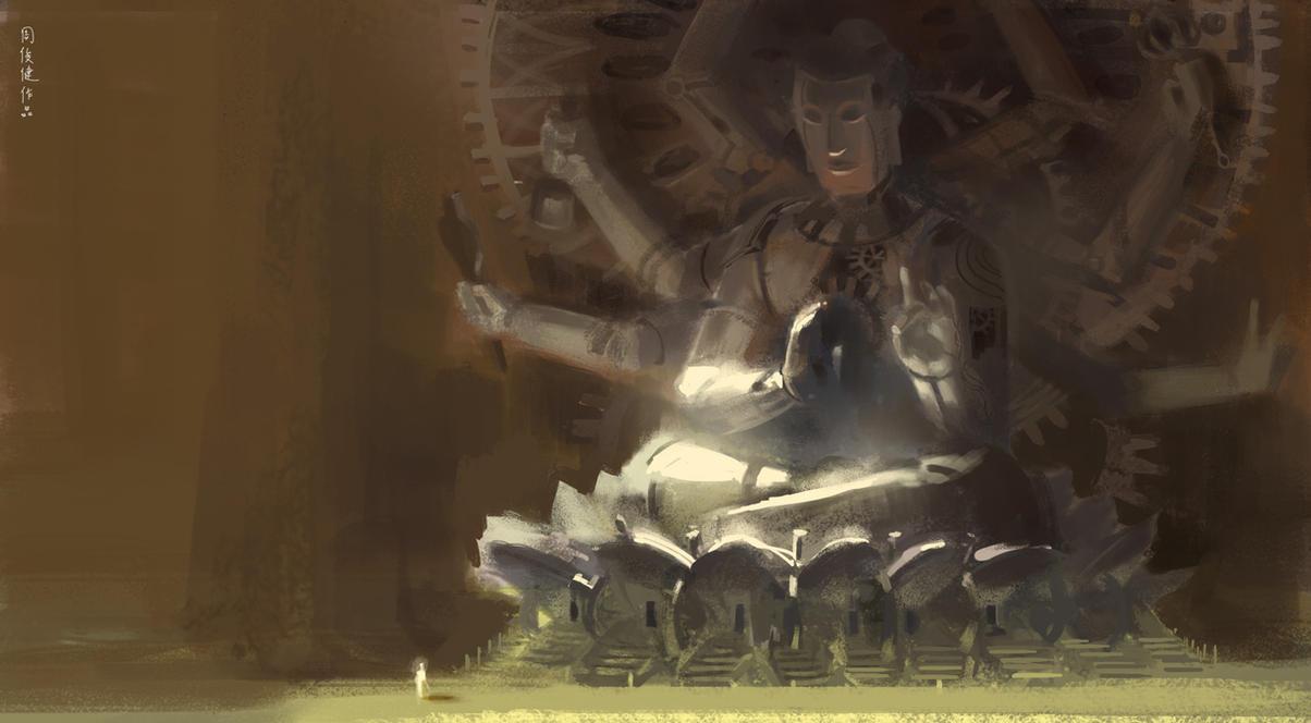 steampunk Buddha by henryz