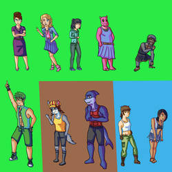 Survivor Fan Characters: Character Redesigns by Drawingshinobi