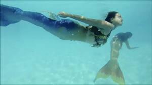 Mermaids at Play by mermaidlorelei