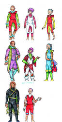 Ages and outfits (Among the Restless) by clemon