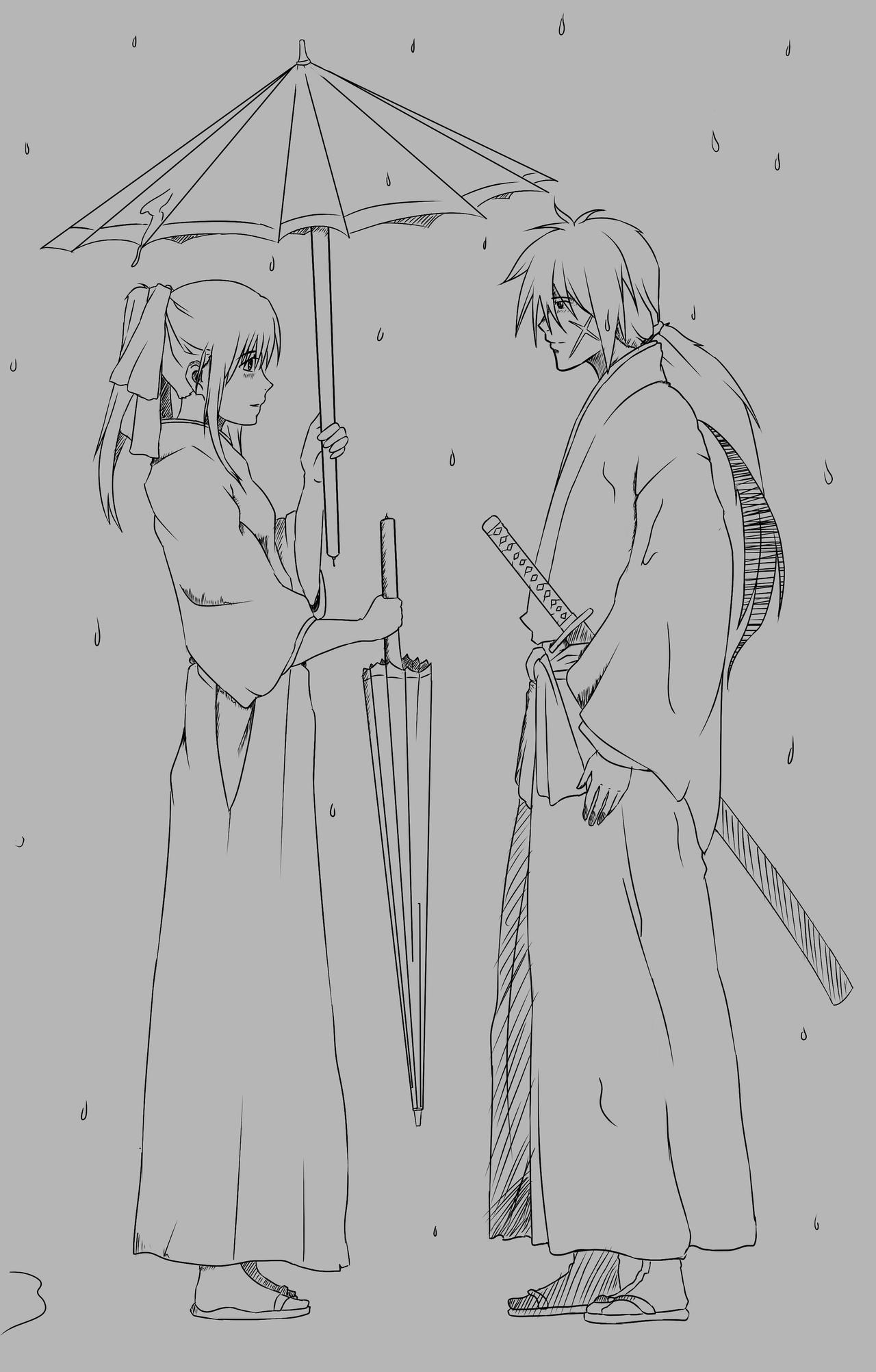 Kenshin And Kaoru  by Gearfreed