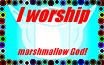 Marshmallow God Worship Stamp by TSSG3