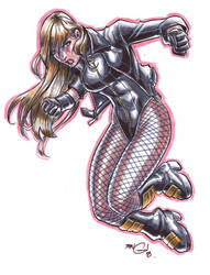 black canary MARKER MADNESS by deemonproductions