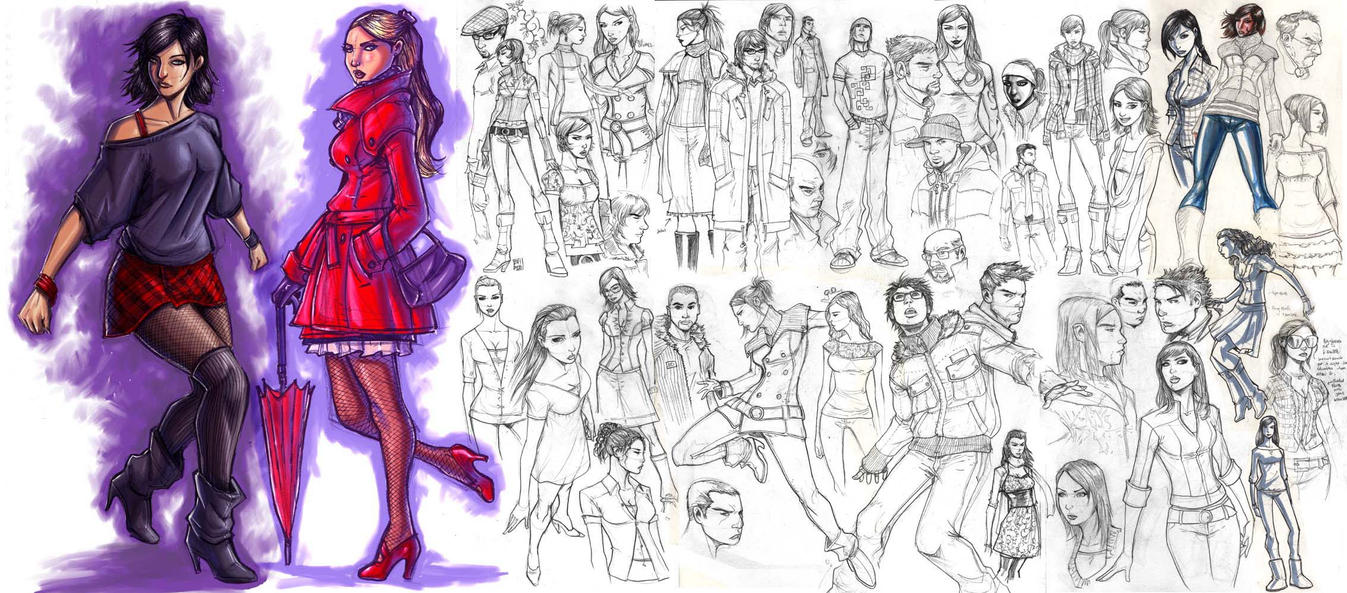 FASHION SKETCHES by deemonproductions