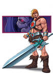 HE-MAN SKETCH COLOURED