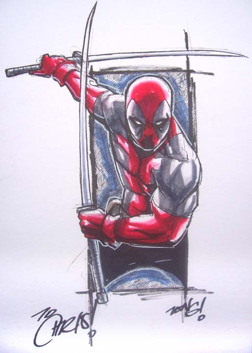 DEADPOOL MARKER MADNESS by deemonproductions