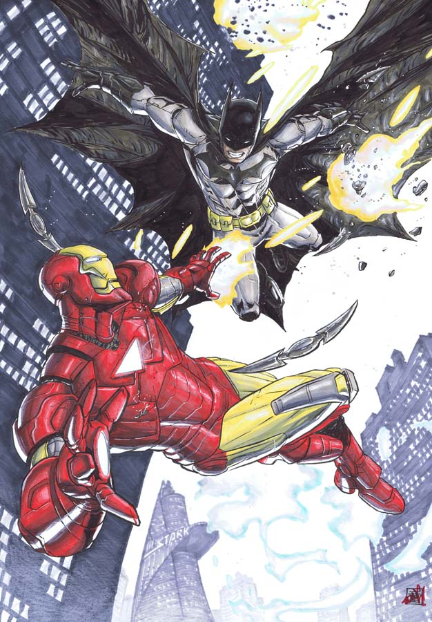 BATMAN VS IRONMAN by deemonproductions