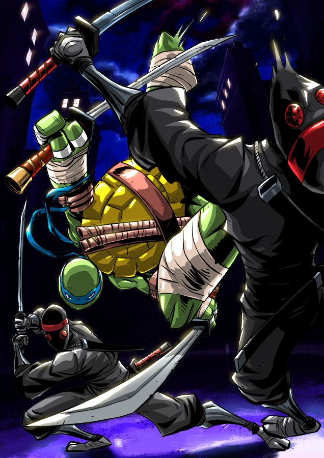 Tmnt Leo Vs Foot by deemonproductions
