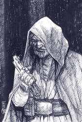 Crosshatchstudy4 Old man luke by deemonproductions