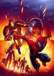 spidey and ironman and ultron