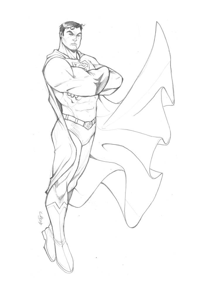 Superman Sketch By Deemonproductions On Deviantart