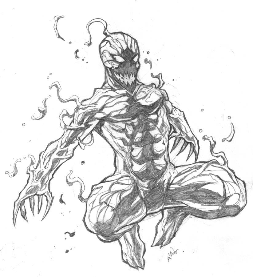Venom Coloring Pages Lego Venom Spider Marvel Heroes: Carnage Sketch By Deemonproductions On DeviantArt