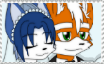 Fox and Krystal Wedding Stamp by FoxMccloud101
